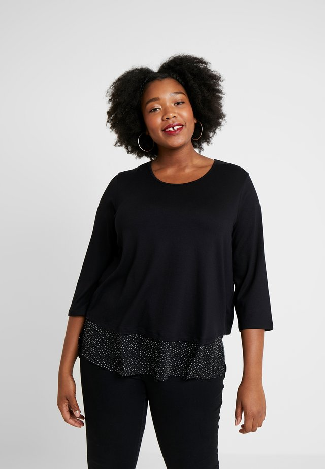 MIT BLUSENDETAIL IM RÜCKEN - Långärmad tröja - black
