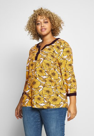 BLOUSE WITH FLOWER PRINT - Blouse - cheddar/yellow
