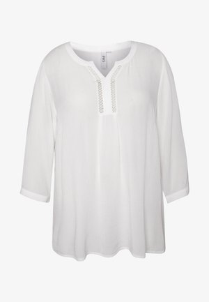 BLOUSE WITH CROCHET DETAIL - Blouse - offwhite