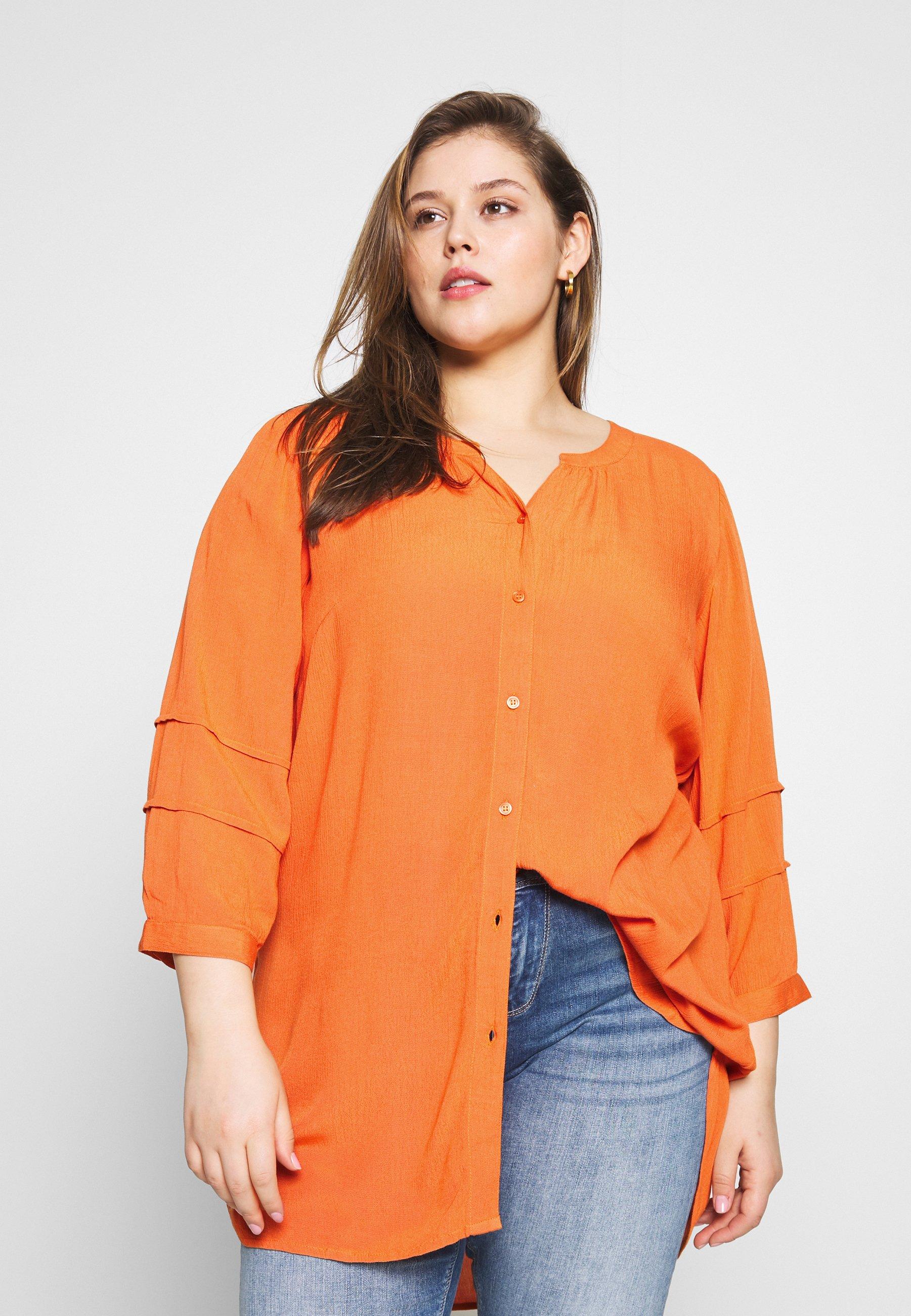 Ciso LONG BLOUSE - Bluser - jaffa orange