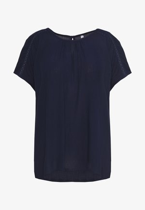 BLOUSE WITH DETAIL - Blůza - navy