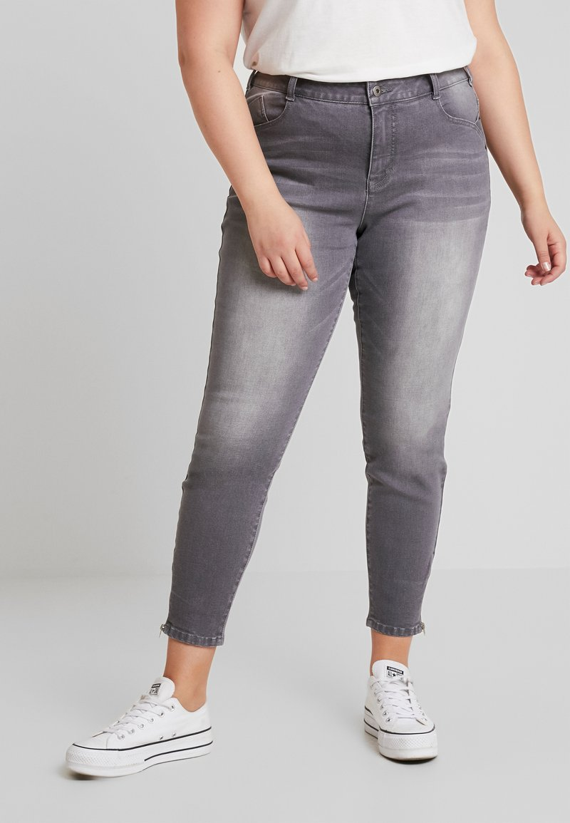 Ciso - PANT HEAVY WASHED - Jeans Skinny Fit - denim grey