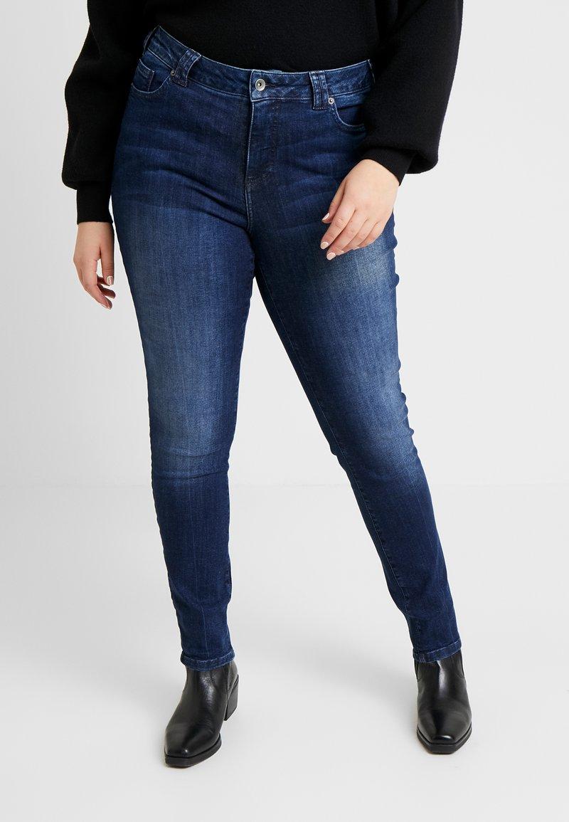 Ciso - AUTHENTIC WASH LEG - Džíny Slim Fit - dark blue denim