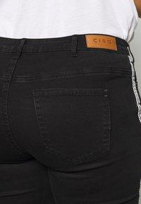 Ciso - 7/8 WITH SIDE-STRIPE - Jeans Skinny - black - 5