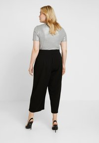 City Chic - PANT WIDE CULLOTE - Kalhoty - black - 2