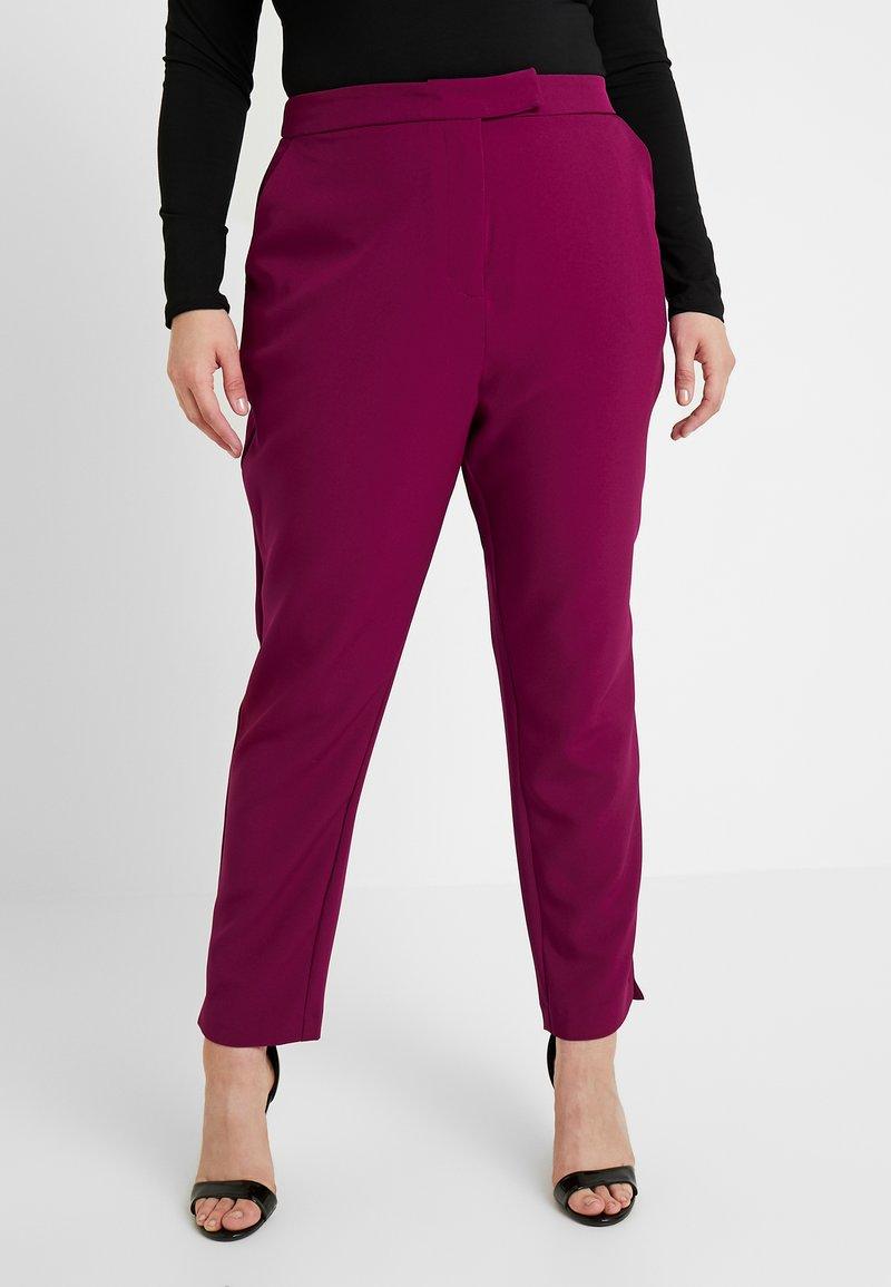 City Chic - EXCLUSIVE PANT MRS DRAPER - Kalhoty - magenta
