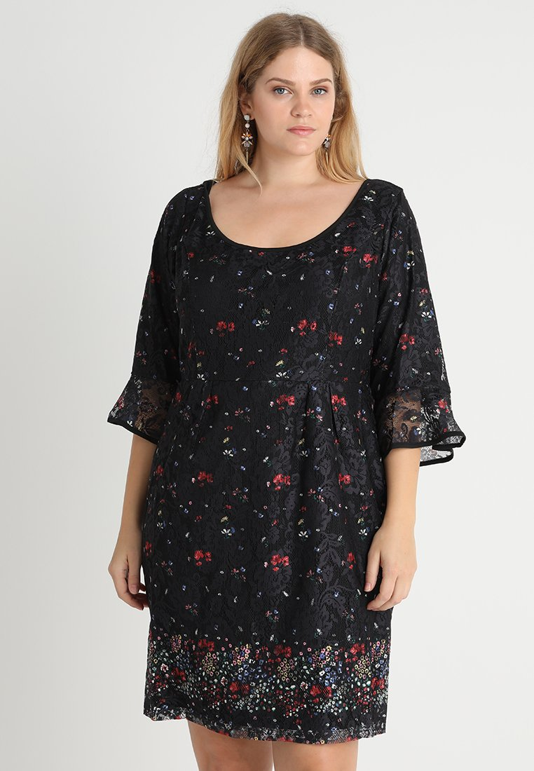 City Chic - FLORAL FIELDS DRESS - Denní šaty - black