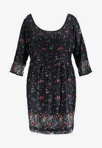 City Chic - FLORAL FIELDS DRESS - Denní šaty - black - 4