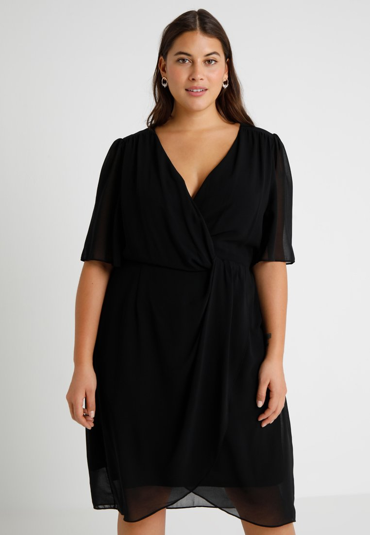 City Chic - DRESS TWIST LOVE - Korte jurk - black