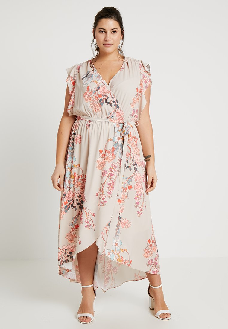 City Chic - FLORAL PRINTED WRAP DRESS - Długa sukienka - sweet delilah