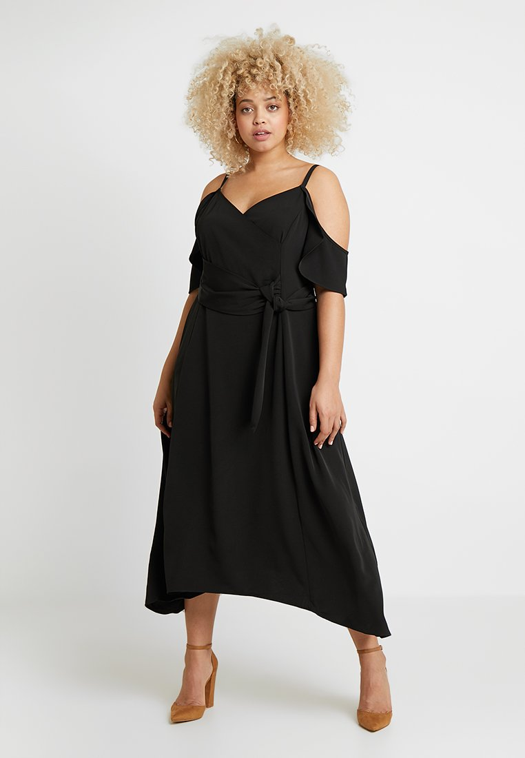 City Chic - SWEET DELIGHT WRAP DRESS - Cocktailjurk - black