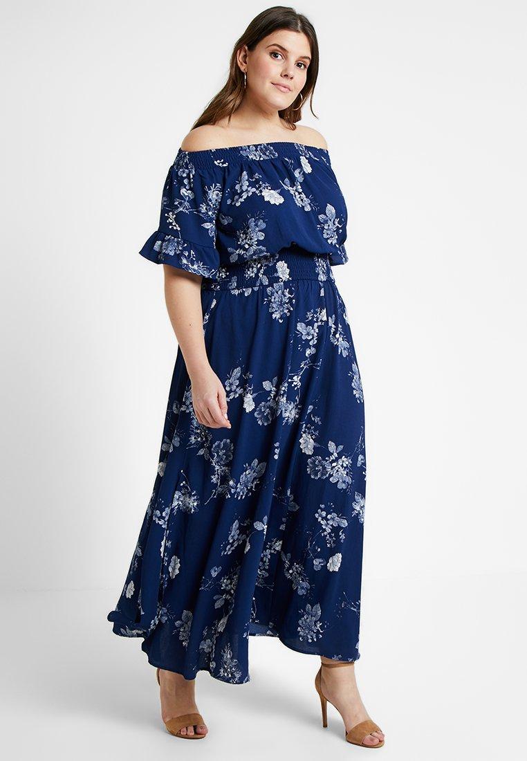 City Chic - GARDEN BARDOT DRESS - Maxi-jurk - sapphire