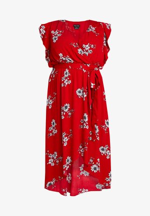 LOVE FLORAL - Maxi dress - red