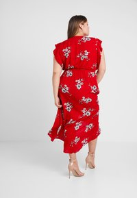 City Chic - LOVE FLORAL - Maxi šaty - red - 2