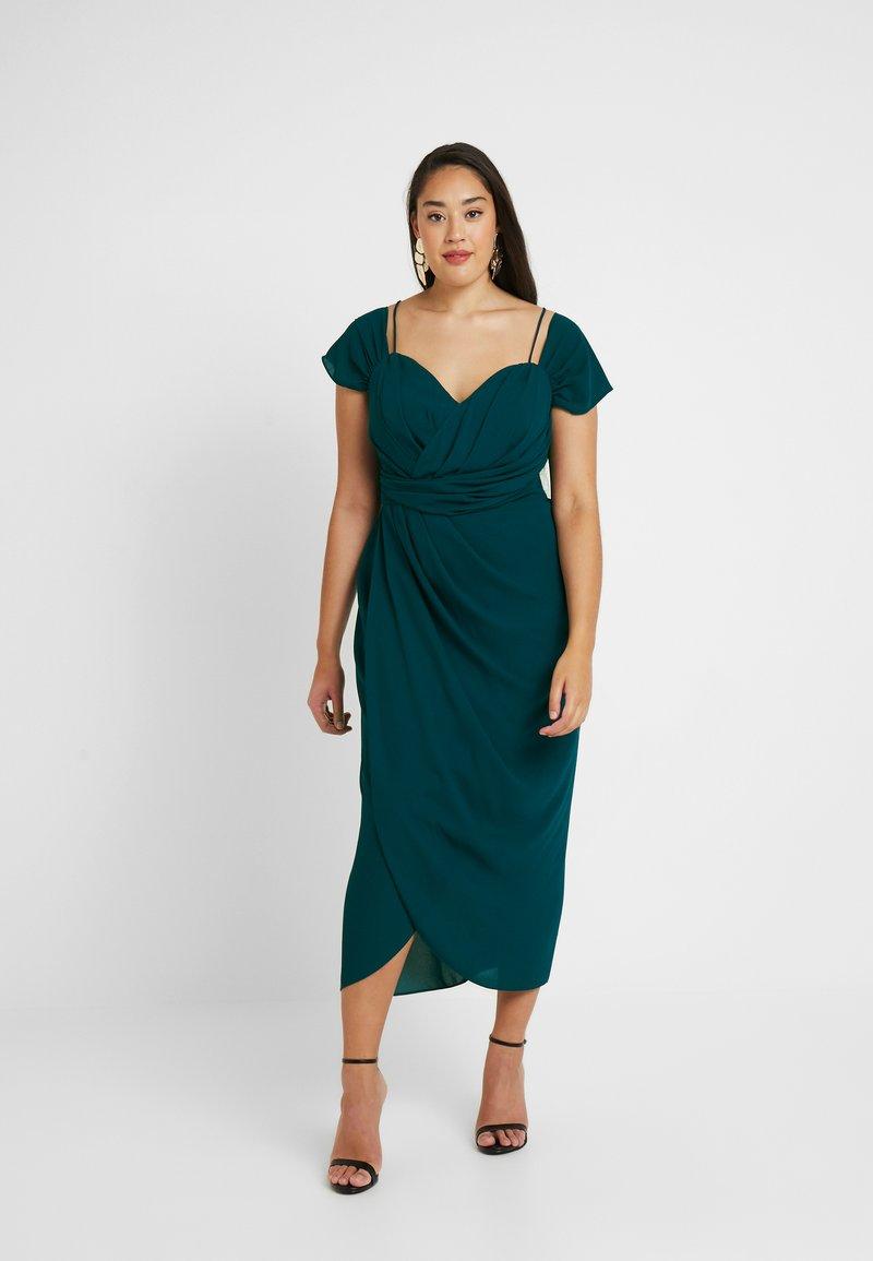City Chic - EXLUSIVE ENTWINE DRESS - Koktejlové šaty/ šaty na párty - emerald