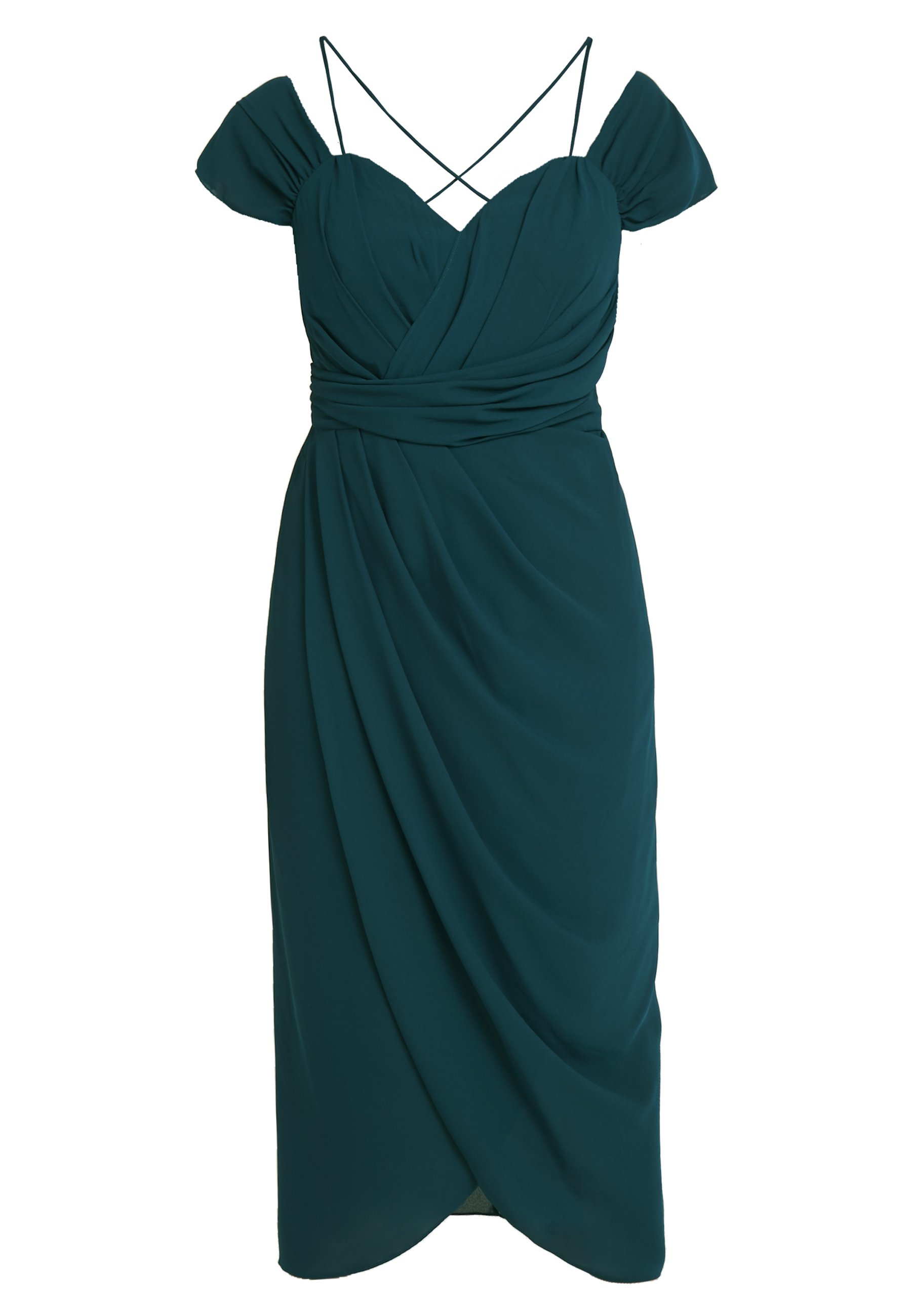 City Chic EXLUSIVE ENTWINE DRESS - Sukienka koktajlowa - emerald