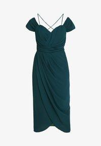 City Chic - EXLUSIVE ENTWINE DRESS - Koktejlové šaty/ šaty na párty - emerald - 4