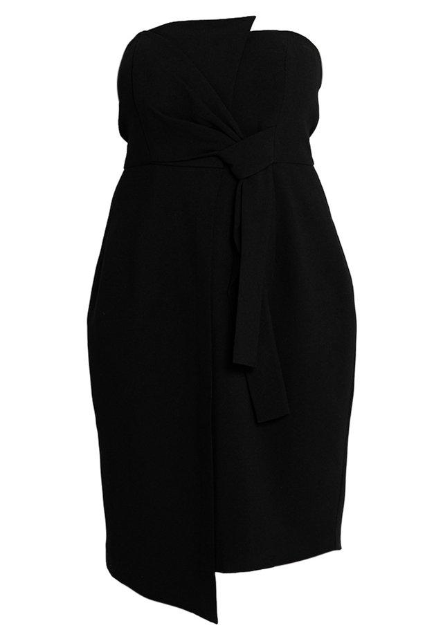 EXCLUSIVE DRESS ORIGAMI - Cocktailklänning - black