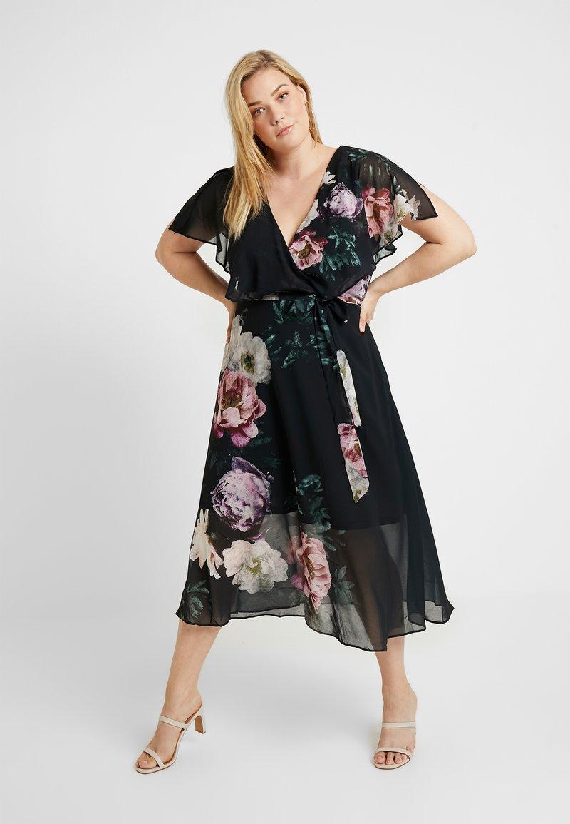 City Chic - EXCLUSIVE DRESS DEMASK - Cocktailkleid/festliches Kleid - multi-coloured