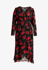 City Chic - EXCLUSIVE DRESS FLORAL - Maxi dress - passion