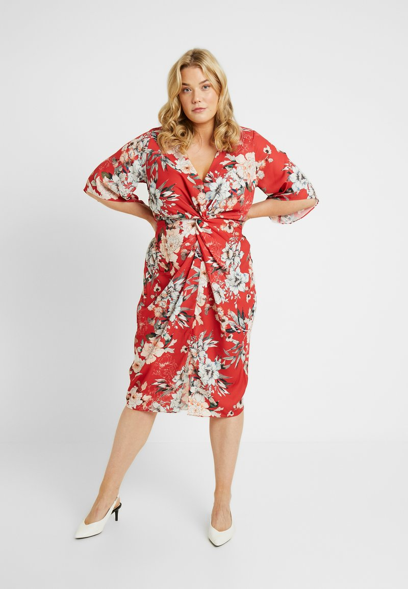 City Chic - EXCLUSIVE DRESS SEDUCTION - Denní šaty - red