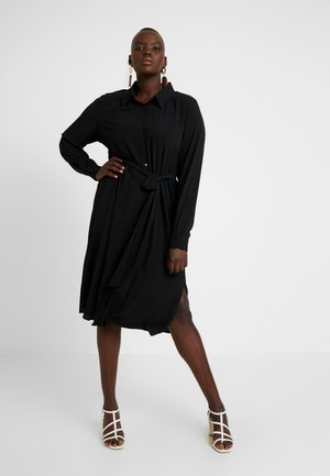 EXCLUSIVE DRESS SIMPLE TWIST - Shirt dress - black