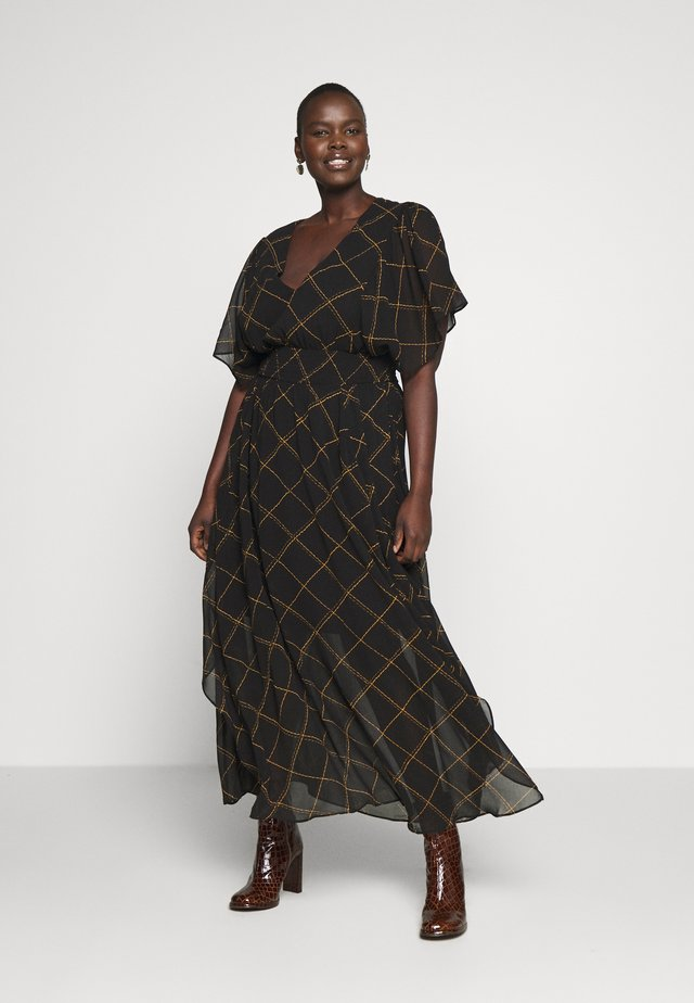 SCRATCH CHECK - Maxi-jurk - black