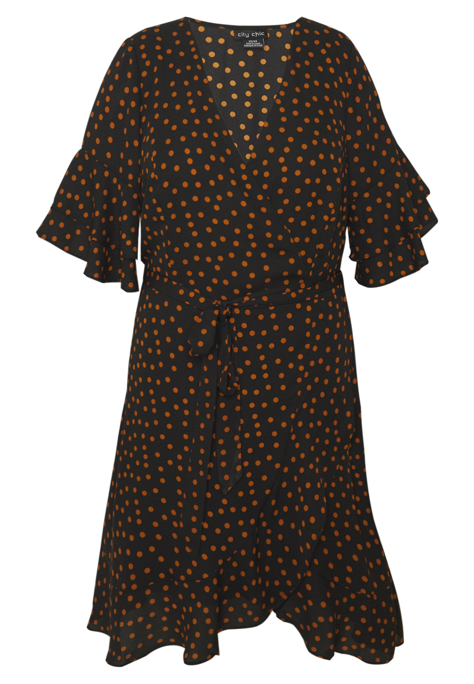 City Chic Dress Amber Spot - Vestito Estivo aF74Oan