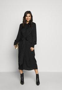 City Chic - DRESS BROCADE TWIST - Denní šaty - black - 1