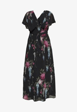 FLORAL ALLURE - Vestido largo - dark blue