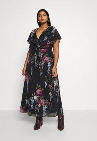 City Chic - FLORAL ALLURE - Maxi šaty - dark blue - 0