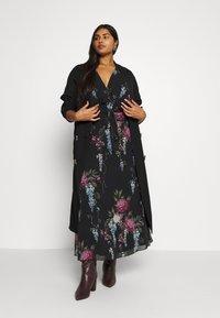 City Chic - FLORAL ALLURE - Maxi šaty - dark blue - 1
