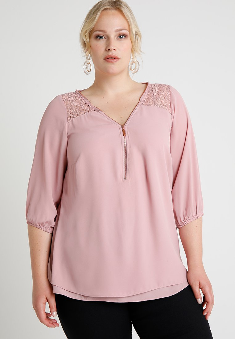 City Chic - CHARMED - Bluse - rose water