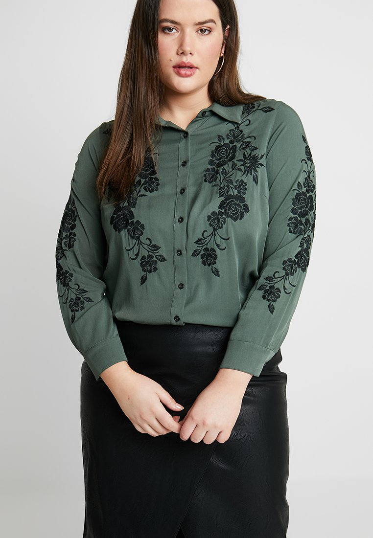 City Chic - EMBROIDERED - Blouse - khaki