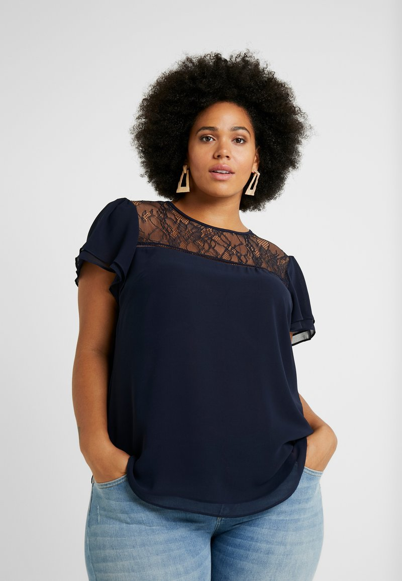 City Chic - EXCLUSIVE LOUISA - Bluse - navy