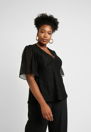 EXCLUSIVE WRAP HIGH BORN - Blouse - black