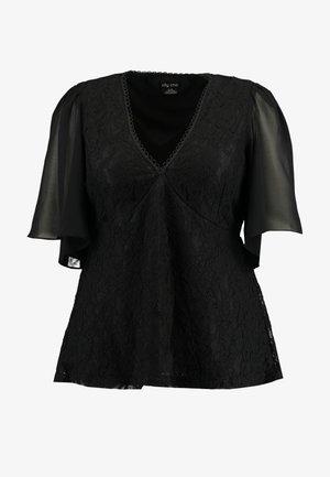 EXCLUSIVE WRAP HIGH BORN - Blouse - black