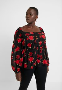 City Chic - EXCLUSIVE MILKMAID FLORAL - Blusa - passion - 0