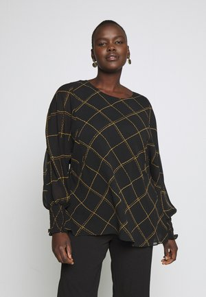 TOP SCRATCH CHECK - Blusa - black