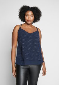 City Chic - STRAPPY NAIL - Top - navy/silver - 0