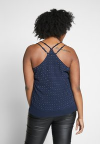 City Chic - STRAPPY NAIL - Top - navy/silver - 2