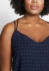 City Chic - STRAPPY NAIL - Top - navy/silver - 4