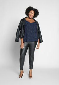 City Chic - STRAPPY NAIL - Top - navy/silver - 1