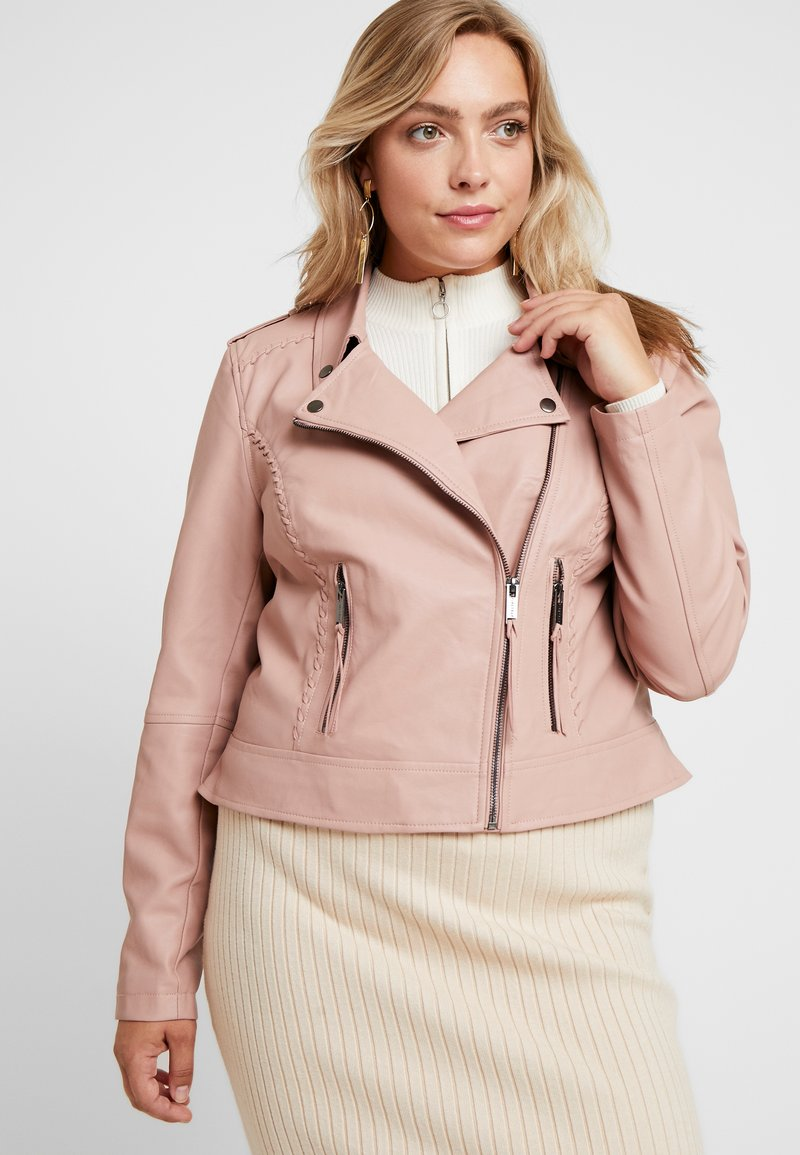 City Chic - EXCLUSIVE JACKET WHIP STITCH - Faux leather jacket - petal
