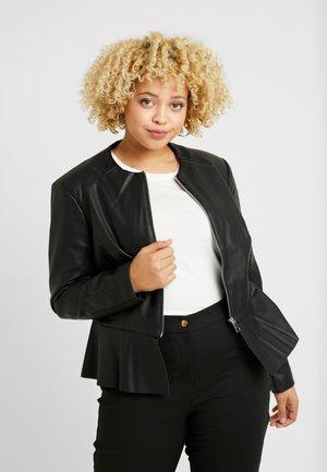EXCLUSIVE DOWNTOWN - Faux leather jacket - black