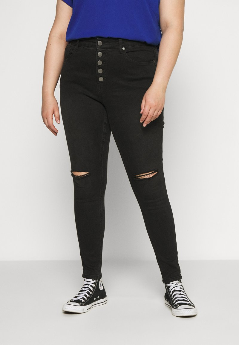 City Chic - HARLEY ROCK - Jeans Skinny Fit - washed black