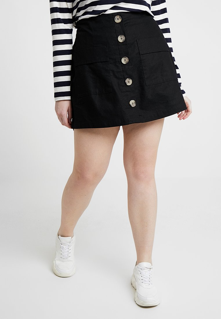 City Chic - SKORT WILD BUTTONS - Shorts - black