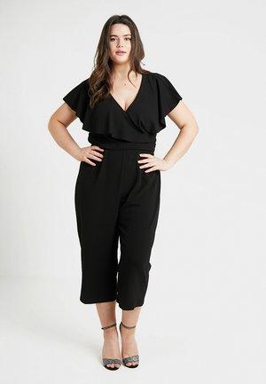 WRAP FRONT CULOTTE - Jumpsuit - black