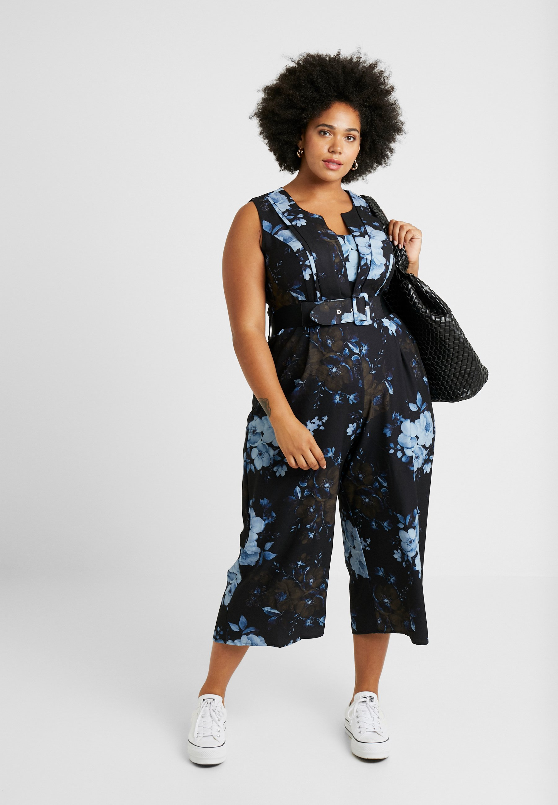 City Chic EXCLUSIVE BONSAI FLORAL Jumpsuit dark blue