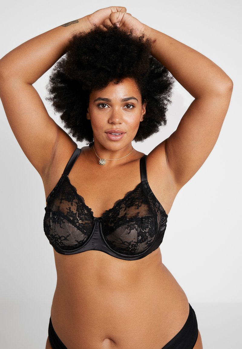 City Chic - ALINA BRA - Underwired bra - black
